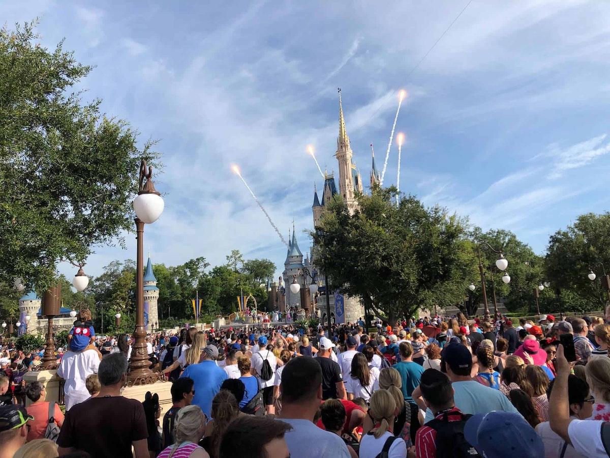 July crowds at Rope Drop